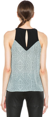 A.L.C. Myers Silk Top in White & Black