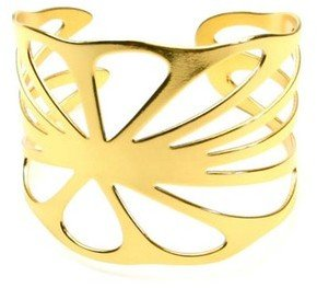 Salty Girl Jewelry Lotus Leaf Cuff Gold Plate