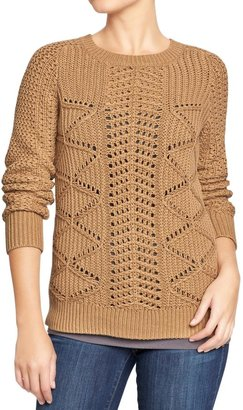 Old Navy Women's Textured Cable-Knit Sweaters
