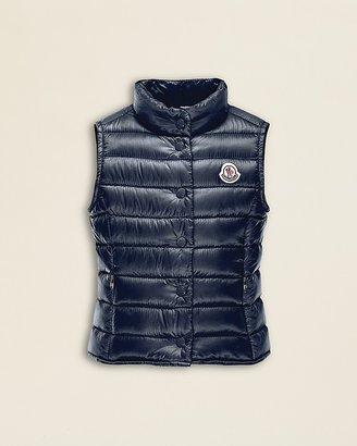 Moncler Girls' Liane Long Season Puffer Vest - Sizes 8-10