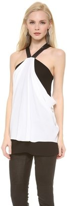 Yigal Azrouel Crepe Colorblock Tank