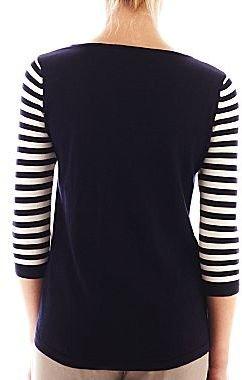 Mng by Mango® Striped Scoopneck Sweater