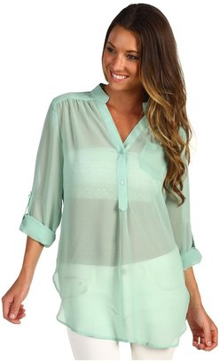 Gabriella Rocha Kristal Sheer Blouse (Mint) - Apparel
