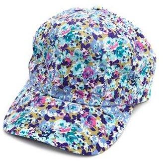 Charlotte Russe Pop Floral Baseball Cap
