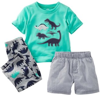 Carter's dinosaur 3-pc. pajama set - baby