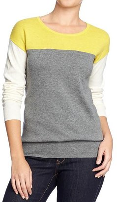 Old Navy Women's Color-Blocked Crew-Neck Sweaters