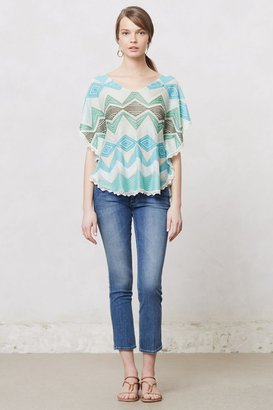 Anthropologie Zigzag Knit Pullover