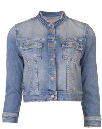Mother cropped faded jacket