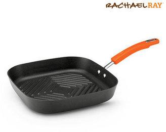 "Rachael Ray Hard-Anodized II 11"" Non-Stick Grill Pan"