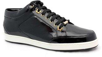 "Jimmy Choo Miami"" Black Patent Leather Sneaker"