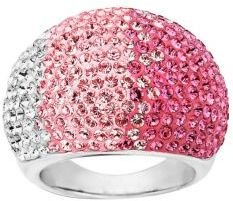 Lord & Taylor Sterling Silver Faded Rose Colored Crystal Ring