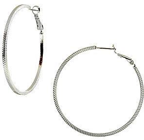Dillard ́s Tailored Textured Hoop Earrings