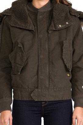 G Star G-Star Army Flight Bomber Jacket with Faux Fur Trim