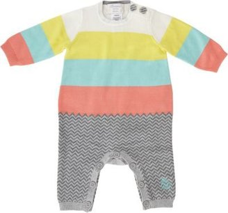 Bonnie Baby Block Stripe Knit Coverall