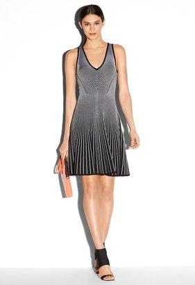 Milly Rib Stretch Flare Knit Dress