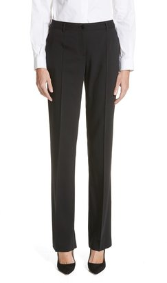 Dolce & Gabbana Straight Leg Stretch Wool Trousers