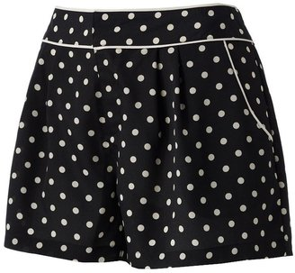 Lauren Conrad dot pleated shorts