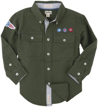 Hatley Button Down Shirt (Toddler/Kid) - Fighter Jets-4