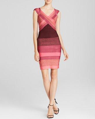 Aqua Dress - Ombre Bandage