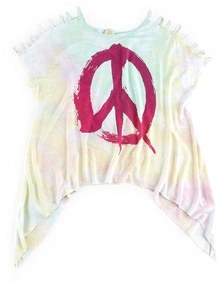 TruLuv Peace-Sign Tie-Dye Top, 7-14