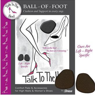 Braza Talk to the Heel Ball of Foot, Black 1 ea