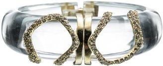 Alexis Bittar Mod Gold Small Clear Modular Bracelet