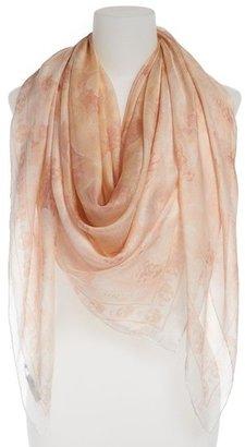 Alexander McQueen 'Buttercups' Silk Chiffon Scarf