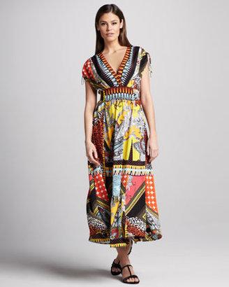 Indikka Patchwork Paisley-Print Dress