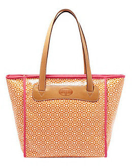 Fossil Orange Geometric Print Key-Per Shopper