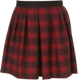 Topshop Check Swoosh Full Skirt