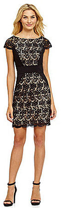 Jessica Simpson Cap-Sleeve Lace Dress