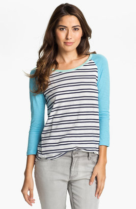 Vince Camuto Two by Stripe Baseball Tee