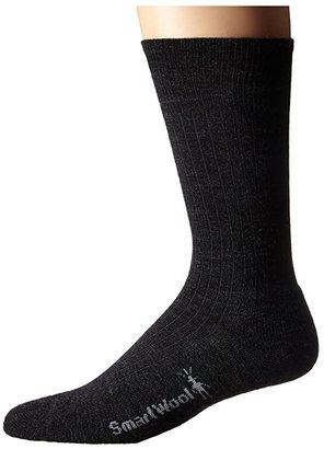 Smartwool New Classic Rib 3-Pair Pack (Black) Men's Crew Cut Socks Shoes