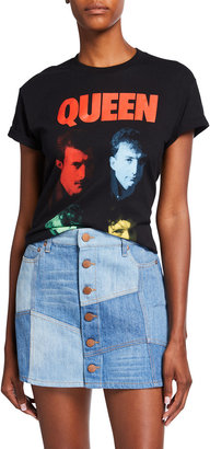 Alice + Olivia Jeans Shira Queen Roll-Cuff Band Tee