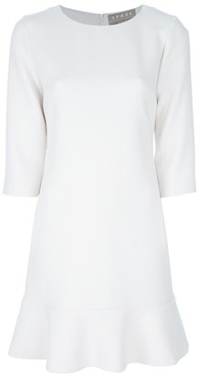 Space flared cropped sleeve dress