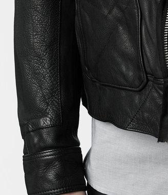 AllSaints Frame Leather Bomber Jacket