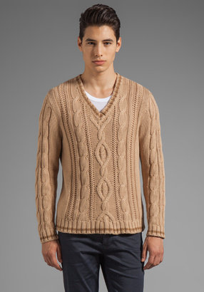 Gant Loose Cable Knit Sweater