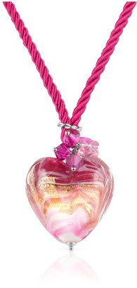 Glass Heart House of Murano Mare - Pink Murano Pendant Necklace