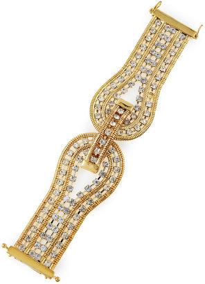 ABS by Allen Schwartz Rhinestone-Coiled Band Bracelet
