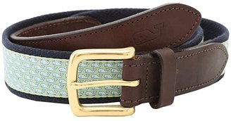 Vineyard Vines Vineyard Whale Canvas Club Belt (Green) Men's Belts