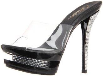 Pleaser USA Women's Blondie-601RS/C/B-CH Platform Sandal