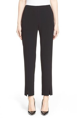 Women's St. John Collection 'Jennifer' Crepe Marocain Ankle Pants $395 thestylecure.com
