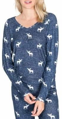 PJ Salvage Winter Escape Long-Sleeve Pyjama Top