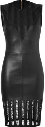 Jitrois Black Leather Cathedral Dress
