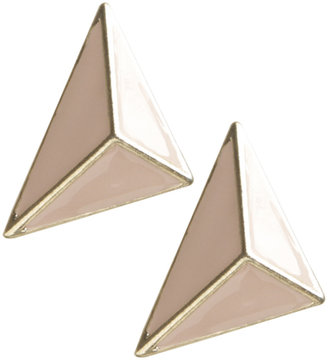 Wet Seal 3D Epoxy Triangle Button Earring