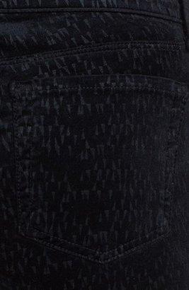 J Brand '815' Patterned Velvet Skinny Jeans