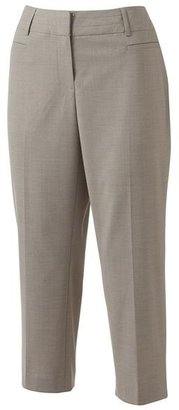 Apt. 9 curvy fit crosshatch trouser capris
