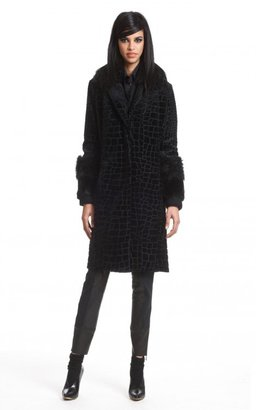 Tracy Reese Fur Trimmed Coat