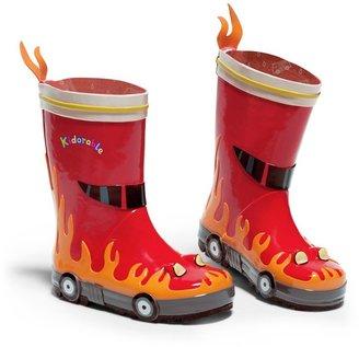 Kidorable Little Boys' Fireman Rain Boots