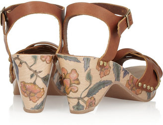Isabel Marant Bianca floral-print leather sandals